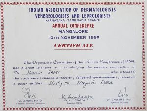 1990 IADVL National Conference Talk DR Hanish Babu MD