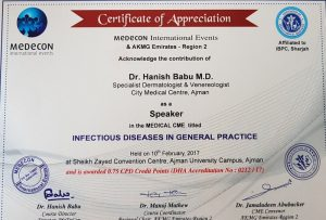 2017 Sharjah Infectious Skin Diseases Dr Hanish Babu, MD